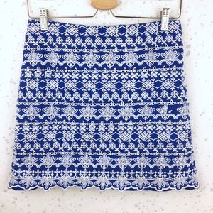Loft Embroidered Eyelet Skirt 6